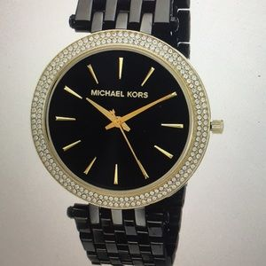 Black/Gold Michael Kors Watch - Women Darci MK3322